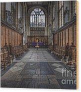 St Mary The Virgin Church - Choir And Altar Wood Print