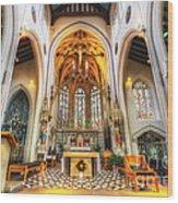 St Mary's Catholic Church - The Altar Wood Print