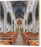 St Mary's Catholic Church - The Nave Wood Print