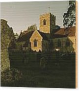 St Marys Church And Ancient Memorial Wood Print