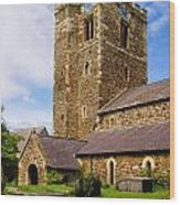 St Mary's Church Conway Wood Print