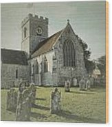St Marys Church Dinton And Churchyard Wood Print