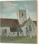 St Marys Church Dinton Wiltshire Wood Print