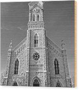St. Mary's Of Port Washington  B-w Wood Print