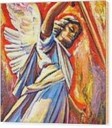 St. Michael Wood Print by Sheila Diemert