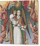 St. Michael Weighing The Souls, From The Last Judgement, C.1445-50 Oil On Panel Detail Of 170072 Wood Print