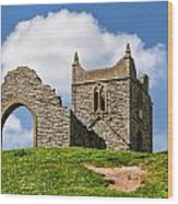 St Michael's Church - Burrow Mump 4 Wood Print