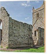 St Michael's Church - Burrow Mump 5 Wood Print