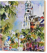 St Michael's Church Charleston South Carolina Wood Print by Ginette Callaway