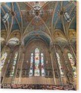 St. Michael's Church Windows Wood Print