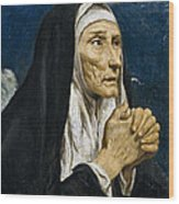 St Monica Wood Print
