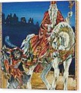 St Nicholas And Dark Peter Wood Print by Lynette Yencho