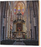 St Nicholas Church Ghent Wood Print