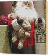 St Nick Teddy Bear Wood Print