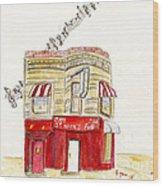 St. Nick's Jazz Pub Wood Print