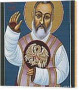 St. Padre Pio Mother Pelican 047 Wood Print