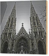 St. Patricks Cathedral  Wood Print by Angela Wright