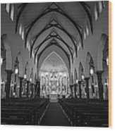 St Patricks Cathedral Fort Worth Wood Print