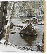 St Patricks Day Cranberry River Wood Print