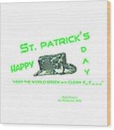St. Patrick's Day Memphis 3d Wood Print