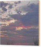 St Patty's Sunset Wood Print