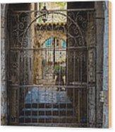 St Paul Courtyard Wood Print