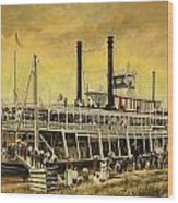 St. Paul Steamboat Wood Print