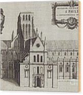 St Paul's Cathedral, 17th Century Artwork Wood Print