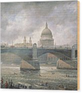 St. Paul's Cathedral From The Southwark Bank Wood Print