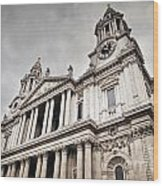St Pauls Cathedral In London Uk Wood Print