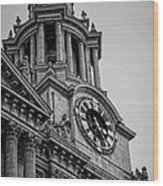 St Pauls Clock Tower Wood Print