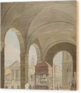 St. Pauls, Covent Garden C.1765-75 Graphite And Wc On Paper Wood Print