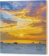 St. Pete Beach Sunset Wood Print