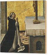St. Peter Martyr In Prayer Wood Print