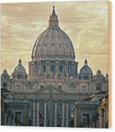 St Peter's Afternoon Glow Wood Print by Joan Carroll