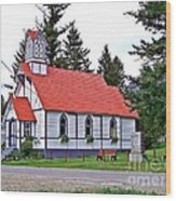 St Peters Anglican Church Wood Print