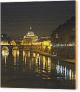 St Peters At Night Wood Print
