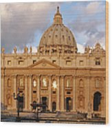 St. Peters Basilica Wood Print by Adam Romanowicz