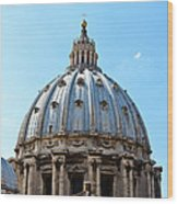 St Peters Basilica Dome Vatican City Italy Wood Print