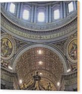 St. Peters Basilica Vatican City Rome Italy Wood Print
