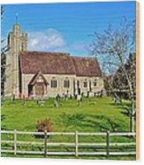 St Peters Church In Minsterworth Wood Print by Paula J James