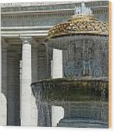 St Peters Square Fountain Wood Print