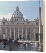 St. Peters Square - Vatican City Wood Print