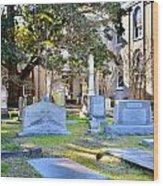 St. Philips Church Cemetery Charleston Sc Wood Print