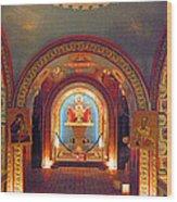 St Photios Greek Shrine Wood Print by Elizabeth Hoskinson