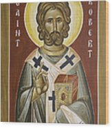 St Robert Wood Print by Julia Bridget Hayes