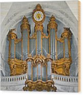 St Roch Organ In Paris Wood Print