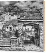 St Sannans Church Bedwellty 4 Mono Wood Print