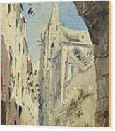 St. Severin Paris Wood Print by James Holland