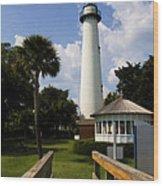 St. Simon's Island Georgia Lighthouse Painted Wood Print